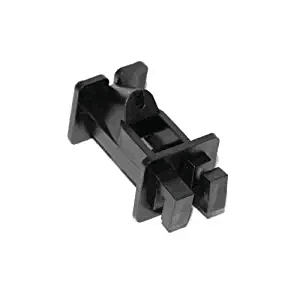 Braid 2 Inch Offset Insulator- Black (25 Per Pk)