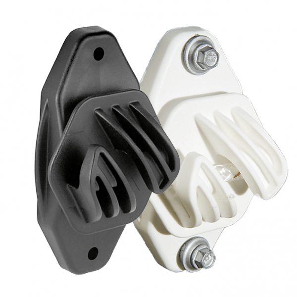 Electrobraid Fence Super Duty Insulators Black and White