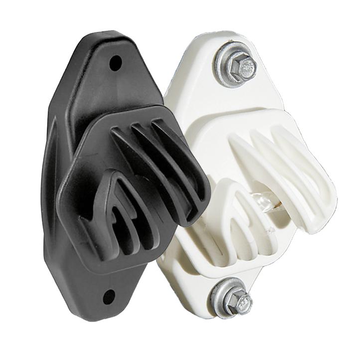 Electrobraid Fence Super Duty Insulators Black and White