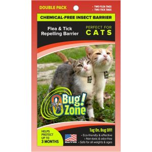 0Bug!Zone Cat Flea & Tick Double Pack