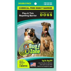 0Bug!Zone Dog Flea & Tick Double Pack