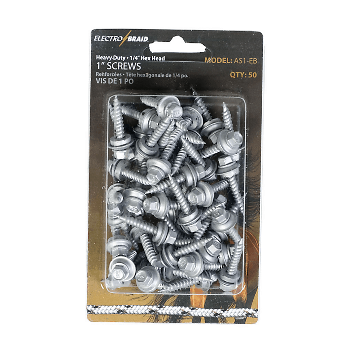 Electrobraid 1 inch hex screws
