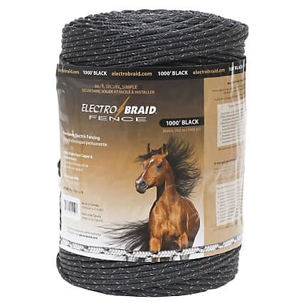 Electrobraid Fence 1000 Foot Reel Black