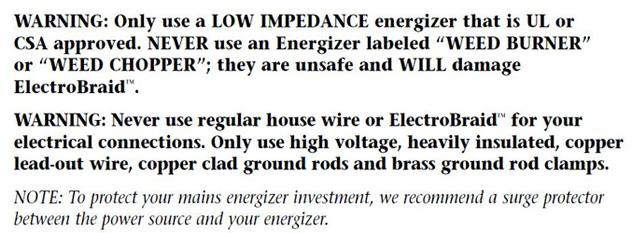 Low Impedence Warning